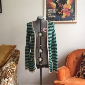 Vintage Inspired Open Front Cardigan